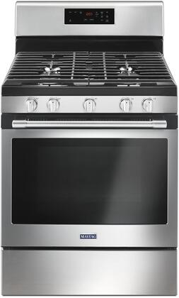 Maytag MGR6600FZ 30 Gas Range with 5 Sealed Burners 5.8 cu. ft. Capacity Convection Porcelain Edge-to-Edge Grates and Self Cleaning Oven in Fingerprint Resistant