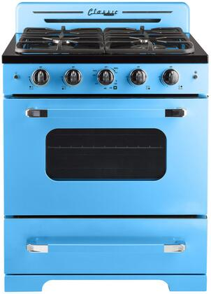 Unique  UGP30CRRB Freestanding Gas Range Blue, UGP30CRRB Classic Retro Convection Gas Range