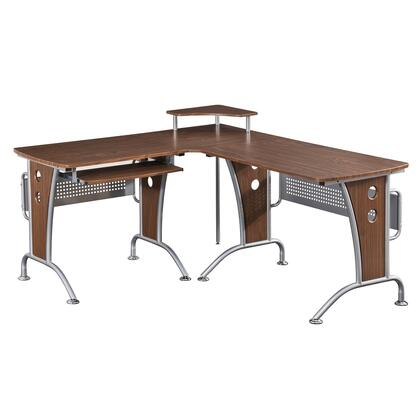 RTA-3806-M615 Deluxe L-Shaped Computer Desk With Pull Out Keyboard Panel  in
