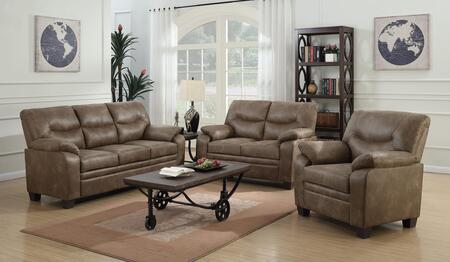 Coaster Meagan 506561S3 Living Room Set Brown, Main Image