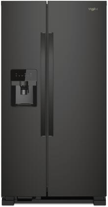 Whirlpool  WRS321SDHB Side-By-Side Refrigerator Black, Main Image