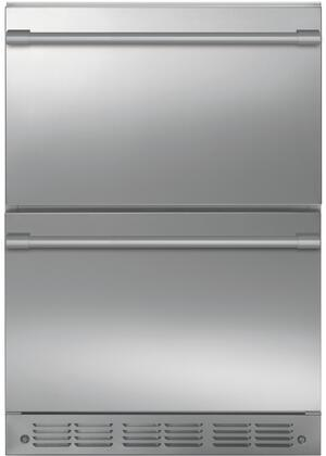 Monogram  ZIDS240NSS Drawer Refrigerator Stainless Steel, ZIDS240NSS Shown with Statement Handles