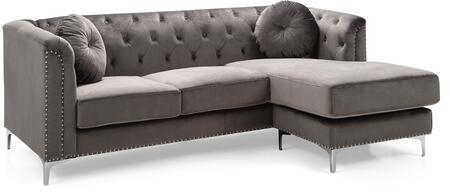 Glory Furniture Pompano G782BSC Sectional Sofa Gray, G782BSC Main Image
