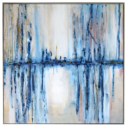 Signature Art Series 3230017 Mystique Waterfall 36″ x 36″ Acrylic Painting in Multi