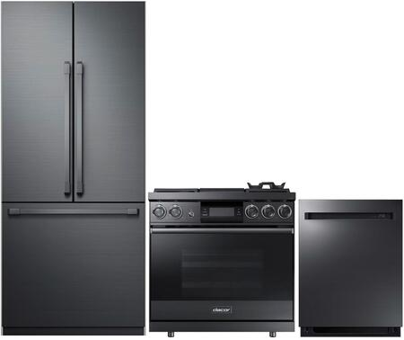 Dacor  938307 Kitchen Appliance Package Graphite Stainless Steel, 1