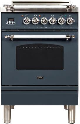 Ilve Nostalgie UPN60DVGGGUXLP Freestanding Gas Range , Blue Grey Custom RAL Color