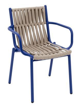 Florida Seating Loop LOOPPABL Patio Chair Blue, loop dining armchair blue