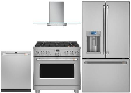 Cafe  1066882 Kitchen Appliance Package Stainless Steel, Main image