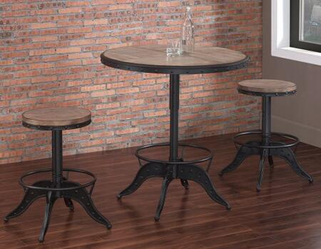 American Woodcrafters Arris P1111B1123PC Dining Room Set Brown, Main Image