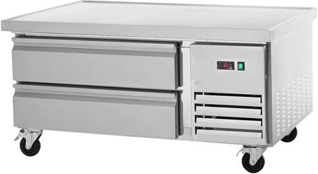 ARCB36 38″ Refrigerated Chef Base with Insulated Top  CFC Free Refrigerant  Casters and Electronic Thermostat in Stainless