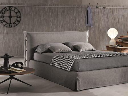 J and M Furniture 18085Q Bed Gray, Main