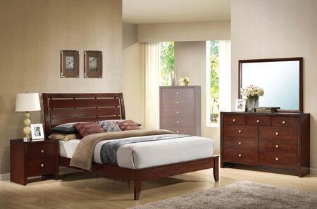 Acme Furniture Ilana 20397EK4PCSET Bedroom Set Brown, Bedroom Set