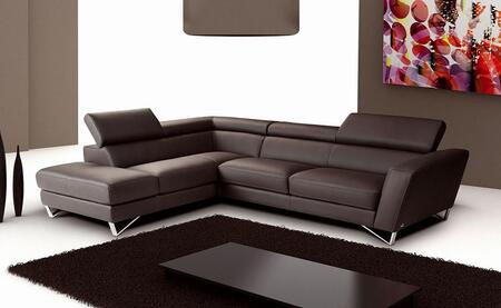 J and M Furniture Sparta 1769111XHFC Sectional Sofa Brown, 1