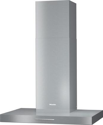 """Miele  PUR88W Wall Mount Range Hood Stainless Steel, Miele PUR88W 30"""" Wall Mount Chimney Hood in Stainless Steel Front view"""