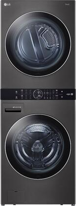 LG WKGX201HBA 27 Single Unit WashTower with 4.5 cu. ft. Washer  7.4 cu. ft. Gas Dryer  TurboWash 360  Allergiene Wash Cycle  TurboSteam  ThinQ