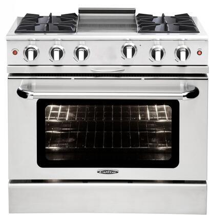 Capital Culinarian MCOR364GL Freestanding Gas Range Stainless Steel, Main Image