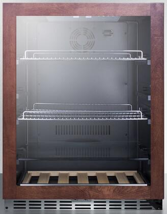 SCR2466PUBPNR 24″ Pub Cellar with 5.8 cu. ft. Capacity  LED Lighting  Chrome Shelves  Full Extension Wine Shelf  Glass Shelf  Professional Handle  in