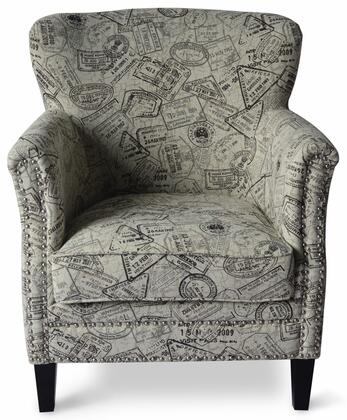 Globetrotter Collection GLOBETROTTER-CH-GRT  Accent Chair – Granite in