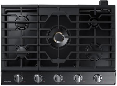 """Samsung NA30N7755TG 30"""" Fingerprint Resistant Black Stainless Steel Gas Cooktop"""