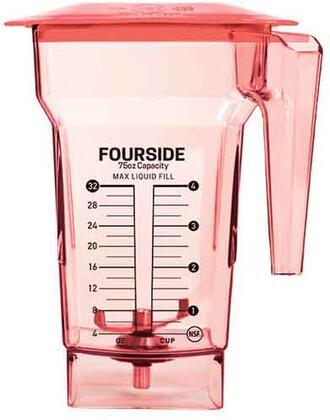 40-619-62 75 oz. Red FourSide Blender Jar with Hard Lid and 3″ Wingtip
