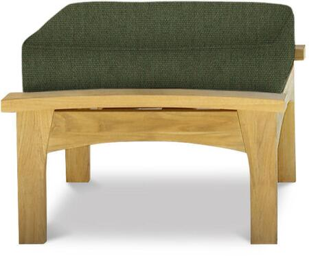 Augusta Collection DN-2104FERN Deep Seating Ottoman with Cushion Included  Teak Construction  Mortise and Tenon Joinery in Canvas