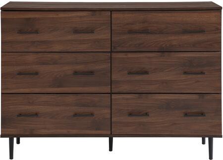 BU52SV6DDW Modern Wood 6-Drawer Buffet – Dark