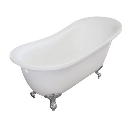 Valley Acrylic Affordable Luxury IMPERIAL155CFWHTCHR Bath Tub White, Main Image