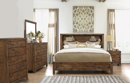 Global Furniture USA Victoria VICTORIAQBSET Bedroom Set Brown, Main Image