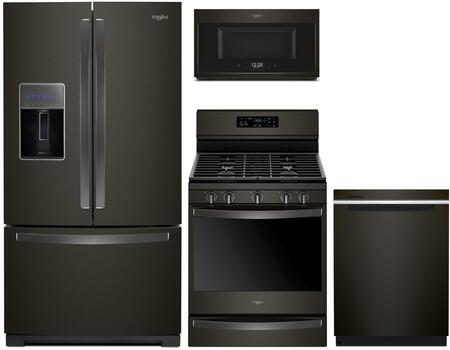 Whirlpool 1054330 Kitchen Appliance Package & Bundle Black Stainless Steel, main image