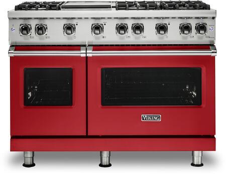 Viking 5 Series VGR5486GSMLP Freestanding Gas Range Red, VGR5486GSMLP Gas Range