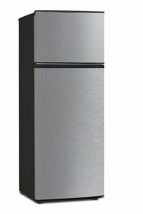 Equator ATFR0730SE Top Freezer Refrigerator Stainless Steel, ATFR0730SE Top Freezer Refrigerator