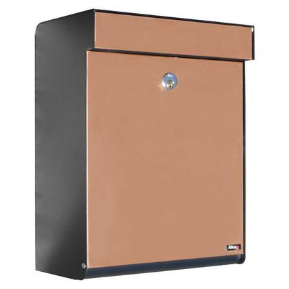 ALX-GRM-BC Allux Series Mailboxes Grandform in Black/Copper