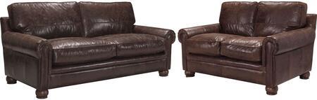 Acme Furniture Columbus 54045SL Living Room Set Brown, 2 PC Set