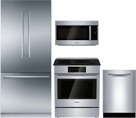 Bosch Benchmark  1125296 Kitchen Appliance Package Stainless Steel, main image
