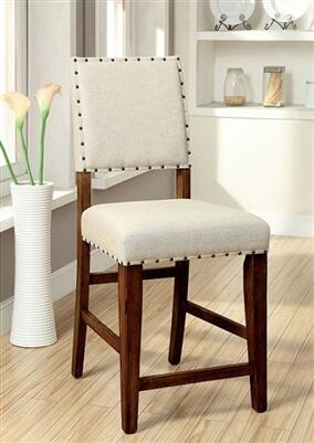 Furniture of America Sania CM3324PC2PK Bar Stool Brown, Main Image