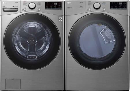 LG  1289267 Washer & Dryer Set Graphite Steel, 1
