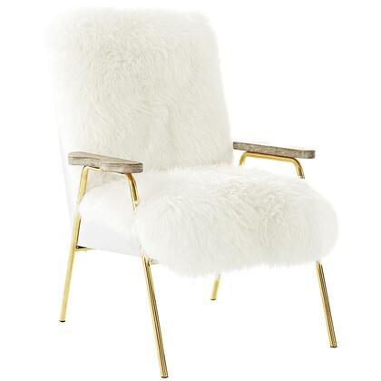 Modway Sprint EEI2305BRNWHI Living Room Chair White, Armchair