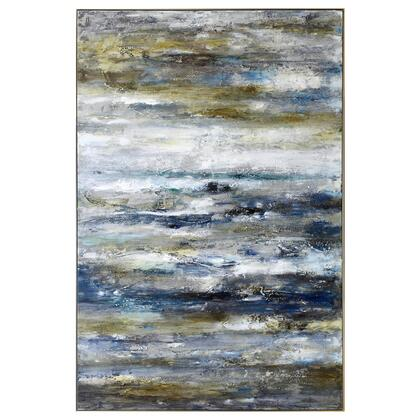 Abstract Series 3230028 Dorato 40″ x 60″ Acrylic Painting in Multi