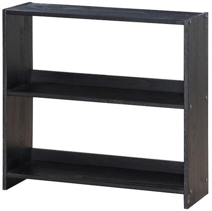 795-CBE Louver 2 Drawer Chest/Shelves in Brushed
