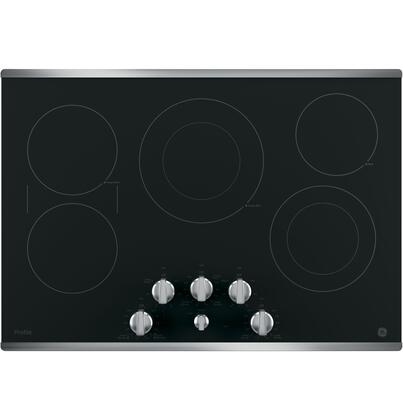 GE Profile  PP7030SJSS Electric Cooktop Stainless Steel, Main Image