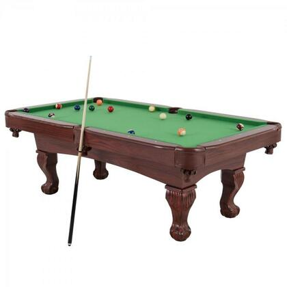 45-6784 Santa Fe 89″ Billiard Table with Traditional Claw Feet and Pocket Decor Include 2 Pool cues  Billiard Balls Set  Triangle  Chalk  and Plastic