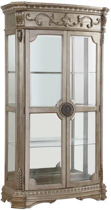 Acme Furniture Northville 66924 Curio Cabinet Silver, Curio Cabinet