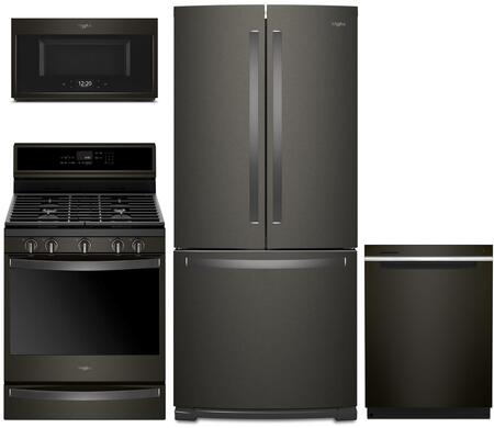 Whirlpool 1054307 Kitchen Appliance Package & Bundle Black Stainless Steel, main image