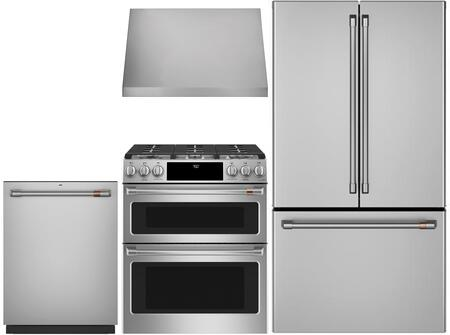 Cafe Matte Collection 1063723 Kitchen Appliance Package Stainless Steel, main image