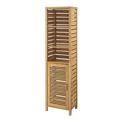 Linon Bracken 980210NAT01U Cabinet, 980210NAT01U Bracken Tall Cabinet Closed
