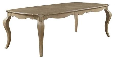 Acme Furniture Chelmsford 66050 Dining Room Table Beige, Dining Table