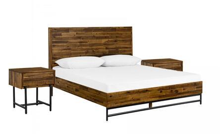 Armen Living Cusco SETCUBDKG3A Bedroom Set Brown, Main Image