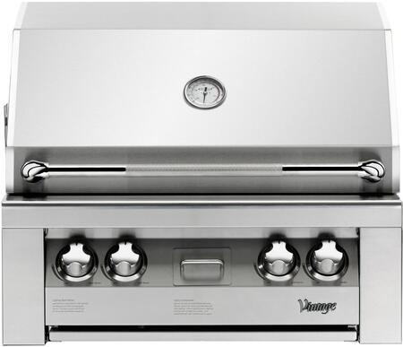Vintage  VBQ30GN Natural Gas Grill Stainless Steel, VBQ30GN Front View
