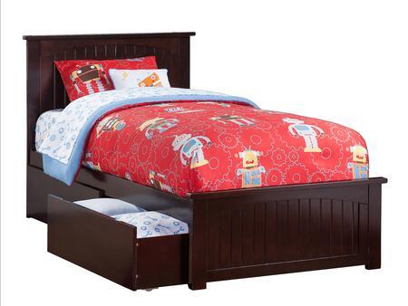 Atlantic Furniture Nantucket AR8226111 Bed Brown, AR8226111 SILO BD2 30