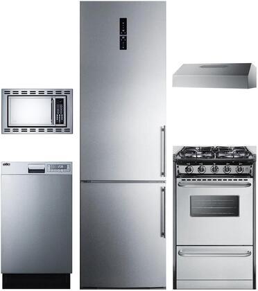 Summit 888115 5 piece Stainless Steel Kitchen Appliances Package